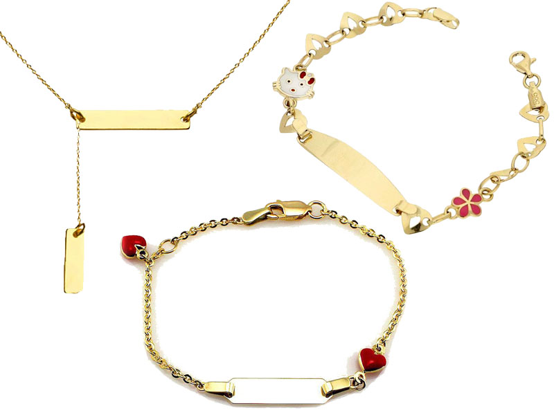 Biżuteria złota z grawerem