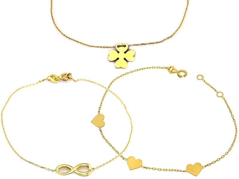 Złote celebrytki bransoletki