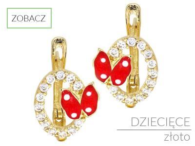 433651038ad2e1 ZŁOTE DZIECIĘCE KOLCZYKI - Dobry sklep internetowy z biżuterią ...